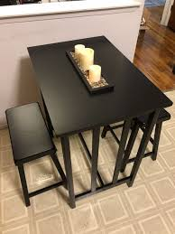 Black 3 Piece Dining Table For Sale In Queens NY