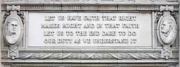 Ulysses S Grant Porcelain Quote Magnet On The Buildings South Side From Lincolns Speech To 800x300