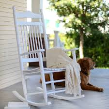 Southern Style White Rocking Chairs For The Porch - Come Sit A Spell