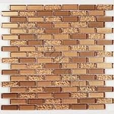 Copper Tiles For Backsplash by Antique Copper Tile Backsplash Random Linear Mosaic Antique