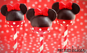 Minnie Mouse Painted Pumpkin by Mickey And Minnie Mouse Cake Pops Pint Sized Baker