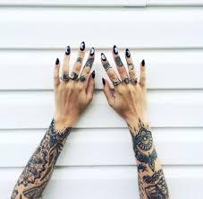 Cute Heart Tattoos Design On The Inner Side Of Finger
