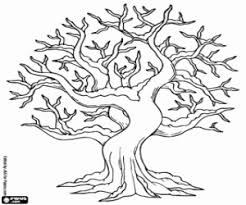 Leafless Tree Snowy In Winter A Few Wood Logs Coloring Page