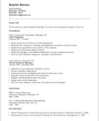 Objectives For A Resume Examples Labor Negotiator Example General Objective