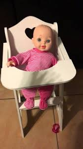 Badger Basket Doll Bed by Badger Basket Doll High Chair Review Youtube