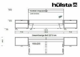 hülsta schlafzimmer bett 180x200 schrank 2x nako fena