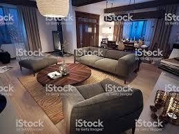 lounge zimmer im rustikalen stil stockfoto und mehr bilder 2015