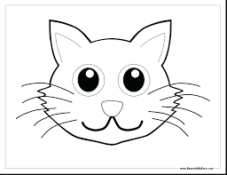 Incredible Cat Hat Face Coloring Page Pages Free Printable Halloween Dog And Hello Kitty Printables