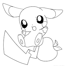 Pokemon Pikachu Coloring Pages Online Free Print