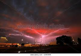Lightning Bolts Around Sundown