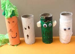 Preschool Crafts Kids Halloween Toilet Paper Roll Monsters Craft