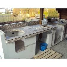 outdoorküche gemauert mit gasgrill und monolith grill
