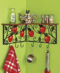 Decorative Kitchen Shelf Or Towel Holder Set