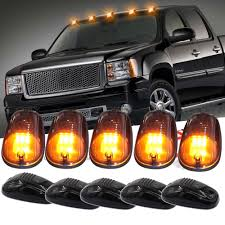 SMOKE LENS AMBER LED Cab Roof Marker Running Lights For Truck Pickup ... Led Drl Daytime Running Light Fog Lamp Fits Ford Ranger T6 Px2 Mk2 Unique Bargains Truck Car White 6 Smd Driving 2009 2014 Board Lights F150ledscom Freeeasy Canyon Marker Mod Leds Chevy Colorado Gmc 7 Round 50w 30w H4 High Low Beam Led 10watt Xkglow 3 Mode Ultra Bright 14pcs Led Universal 2x45cm Auto Fxible Drl With Step Bar 1pcs Styling 12w Lights Dc 12v Archives Mr Kustom Accsories
