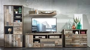 details zu wohnwand wohnzimmer set 5 tlg schrank kommode tisch wandregal vintage shabby