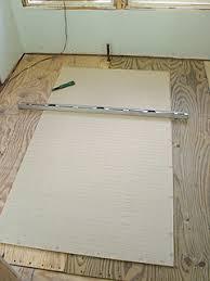 installing hardibacker tile backerboard for bath floor tiles