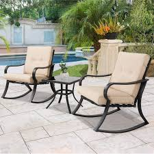 Amazon.com: Solaura Outdoor Rocking Chairs Bistro Set 3-Piece Black ... Eucalyptus Folding Bistro Chairs Set Of 2 Plowhearth Fsc Luxury Outdoor Garden Patio Fniture By Jsen Leisure Gci Freestyle Rocker Camping Rocking Chair Shop Cambridge Casual Sherwood Natural Teak Porch Polywood Allweather Rethink Honey Wicker With Cushions Free Cleo Chair Dinamicit Talenti Living Facebook White In Lisburn County Antrim Gumtree Awesome Rocking Redo Original Springs Follow Eclectic The Manner Vladimir Kagan Fin De Sicles Et Plus