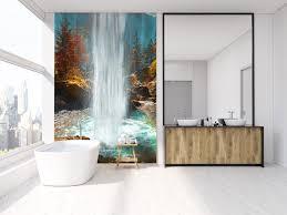 wasserfall aus großen gewässern für badezimmer