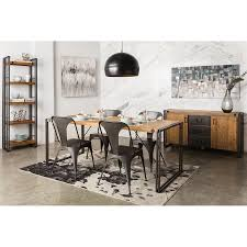 Moes Home Collection Brooklyn Black 5 Piece Dining Set With Table