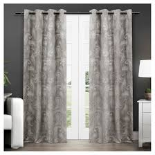 Insulated Curtain Panels Target by Set Of 2 Pair Bangalore Paisley Thermal Grommet Top Window