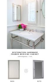 Home Depot Recessed Medicine Cabinets With Mirrors by Restoration Hardware Framed Inset Medicine Cabinet For 650 Vs