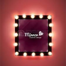 make up mirror with light bulbs royalty free cliparts vectors