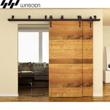 Double Barn Door Hardware In WinSoon 5 16FT Sliding Bypass Track Kit