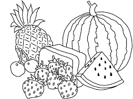 Ideas Collection Coloring Book Pictures Of Fruits And Vegetables On Layout