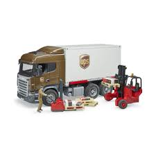 100 Ups Truck Toy Bruder 3581 Scania RSeries UPS Logistics With Fork Lift