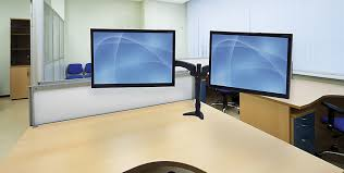 Dual Monitor Arms Desk Mount by Peerless Av Lct620ad Dual Arm Lcd Mount With Clamp And Grommet