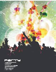 Music Party Poster Vector Illustration 04