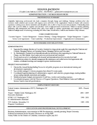 Comprehensible Resume Sample Assistant Administrative Officer With Objective Line Over Summary Of Qualification And Administration Experience