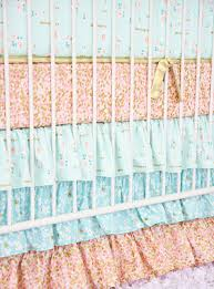 Coral And Mint Baby Bedding by Coral And Gold Sparkle Baby Bedding Caden Lane