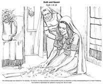 Ruth And Naomi Free Bible Colouring Page For Kids