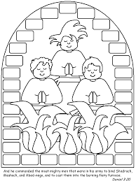 Shadrach Meshach And Abednego Coloring Page Pages
