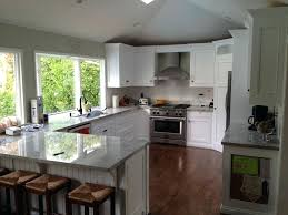 Shaped Kitchen Island Ideas Design For L With Combined Cabinet Full Size Of Color Names Stun