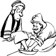 1000 Images About Bible NT The Last Supper Coloring Page Of Jesus Washing His Disciples Feet