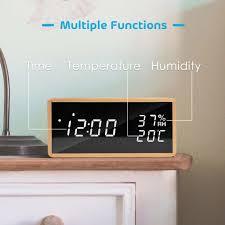 led wecker digitaler wecker tischuhr mit sprachsteuerung datum temperatur und luftfeuchtigkeit für zuhause schlafzimmer kinderzimmer und büro