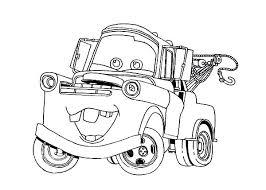 Cars Character Tow Mater Coloring Pages Color Pertaining To Truck C