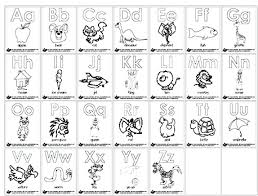Animal Alphabet Coloring Pages Printable Preschool Sheets For Kindergarten Pdf Full Size
