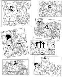 Easter Story Coloring Pages Also Good For Sequence Game Decrease Size Make To