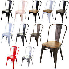 SETS OF 4 TOLIX STYLE RUSTIC VINTAGE METAL CHAIRS DESIGN KITCHEN DINING SEATING