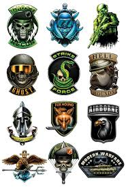 Black Ops Temporary Tattoo Set