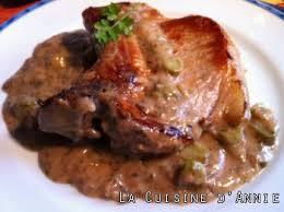 recette côtes de porc sauce piquante la cuisine familiale un