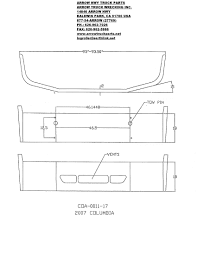 100 Arrow Hwy Truck Parts Freightliner Columbia Aftermarket Bumper