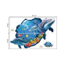 decalmile wandtattoo delphin 3d fenster wandsticker