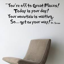 Amazoncom CiCy Dr Seuss Youre Off To Great Places Wall Vinyl