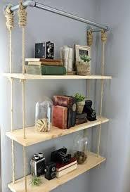 swing shelf reclaimed wood shelf wood and leather urban