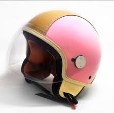 Copter Helmet Special Edition Pink Ivory Leather Vespa