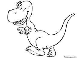 Printable Dinosaur Happy Face Tyrannosaurus Rex Coloring Pages